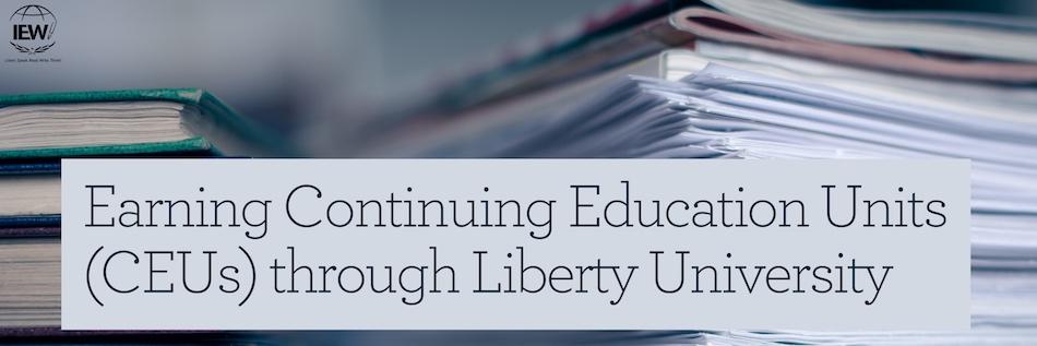 Earning Continuing Education Units (CEUs) through Liberty