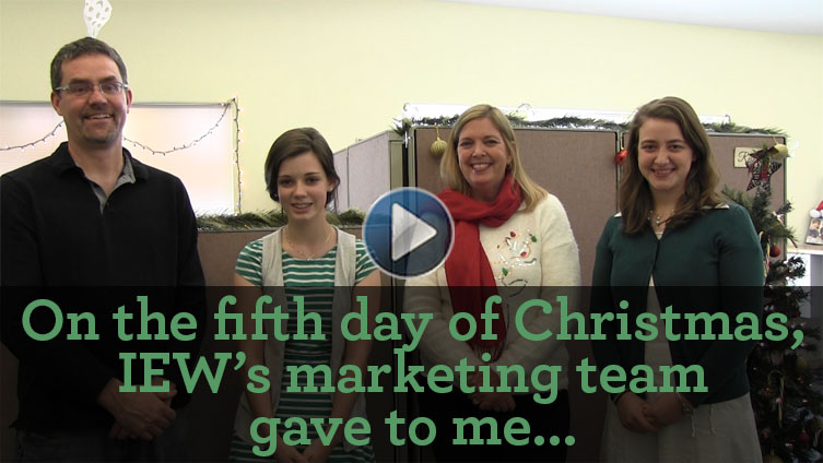 On the Fifth Day of Christmas IEW Gave to Me…